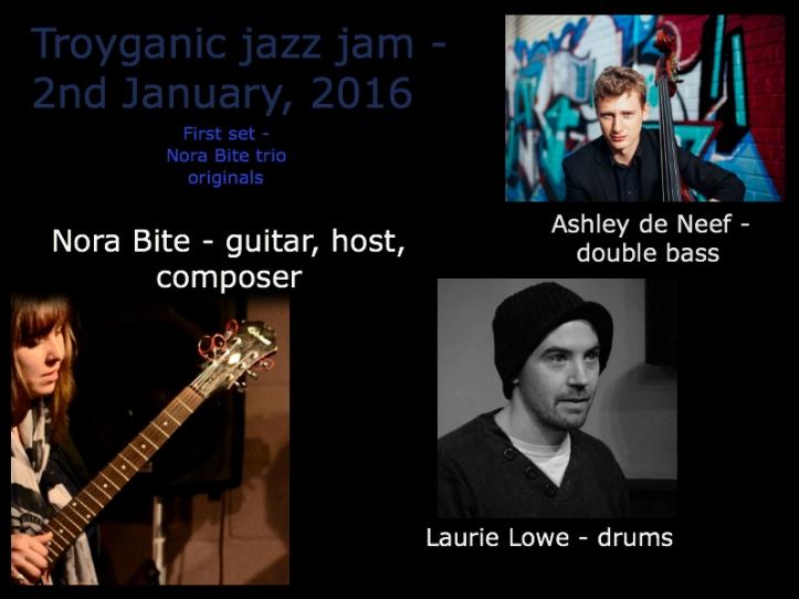 Nora Bite, Laurie Lowe, Ashley de Neef - London jazz jam