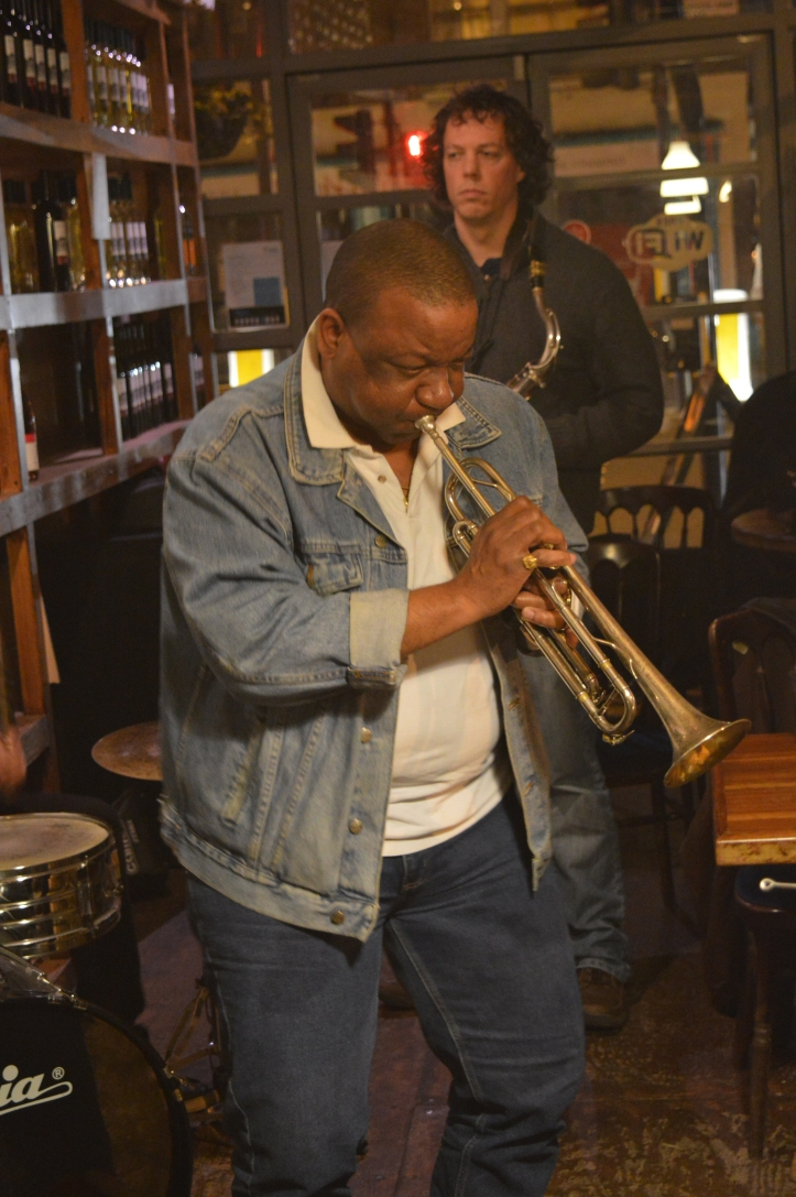 Melvin Trumpet - Jazz jam London - Shoreditch live music - Saturdays night live music in London - Hackney jazz guitar