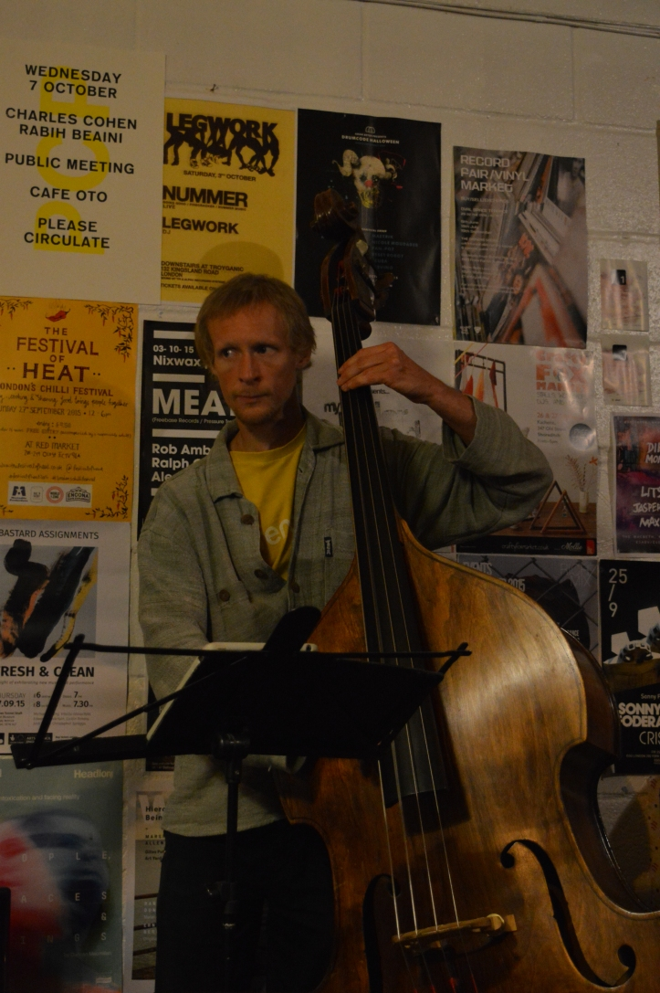 Tim Fairhall - double bass - Jazz jam London - Shoreditch live music - Saturdays night live music in London - Hackney jazz guitar