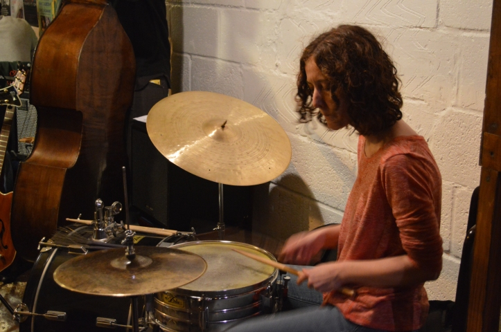 Caroline Scott - drums .. Troyganic jazz jam- Jazz jams in London - Jazz drums - Jazz music - Live music in London East