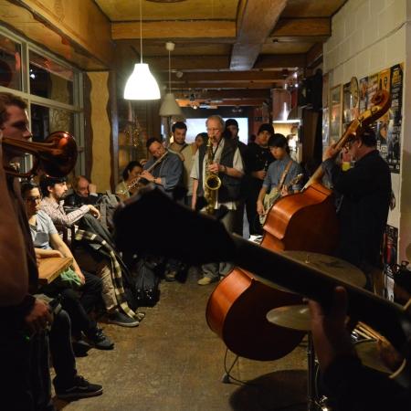 London jazz jam - at troyganic . every saturday. nora bite trio. original music live london every saturday