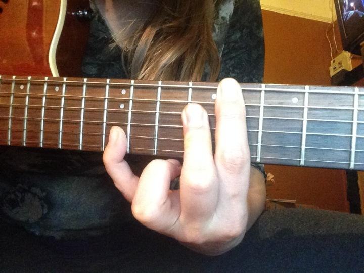 Cmaj7 guitar chord - guitar licks - jazz guitar chords- fingerstyle - pannonica thelonius monk
