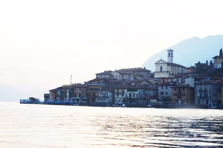 biggest island on the lake in Europe, Italy lake iseo , island monte isola