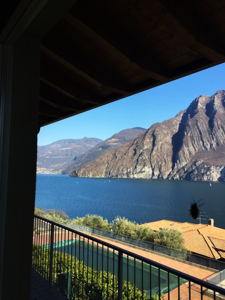 View from living room and bedroom. italy iseo lake