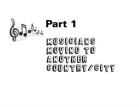 Musicians moving to another country or city and London music scene