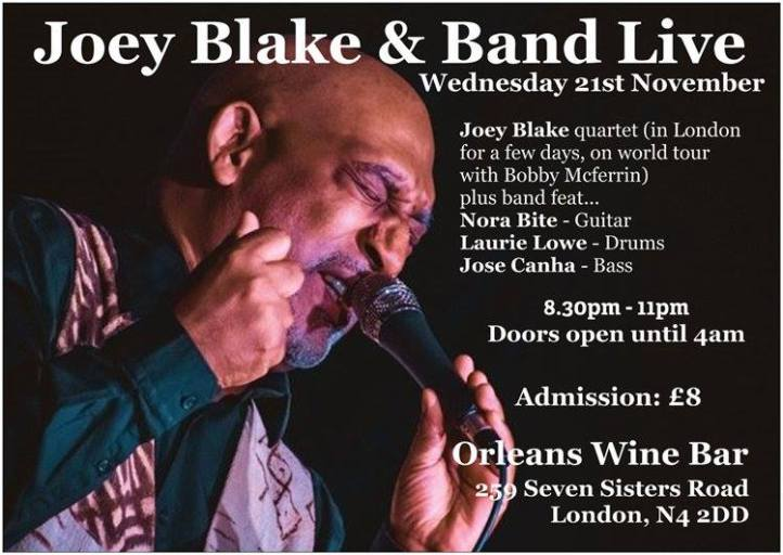 joey blake USA - London gig 21st November 2018 - Joey blake, nora bite , laurie lowe, jose canha. London music scene.