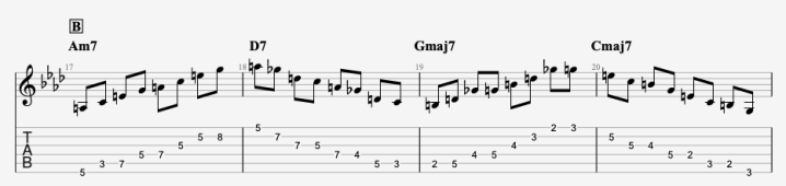 All the things you are jazz guitar arpeggios for studying jazz improvisation basics. First 4 bars of arpeggios. All the music chart + tabs for full All the things you are arpeggios ( each one position) is available as well, and guitar pro file.